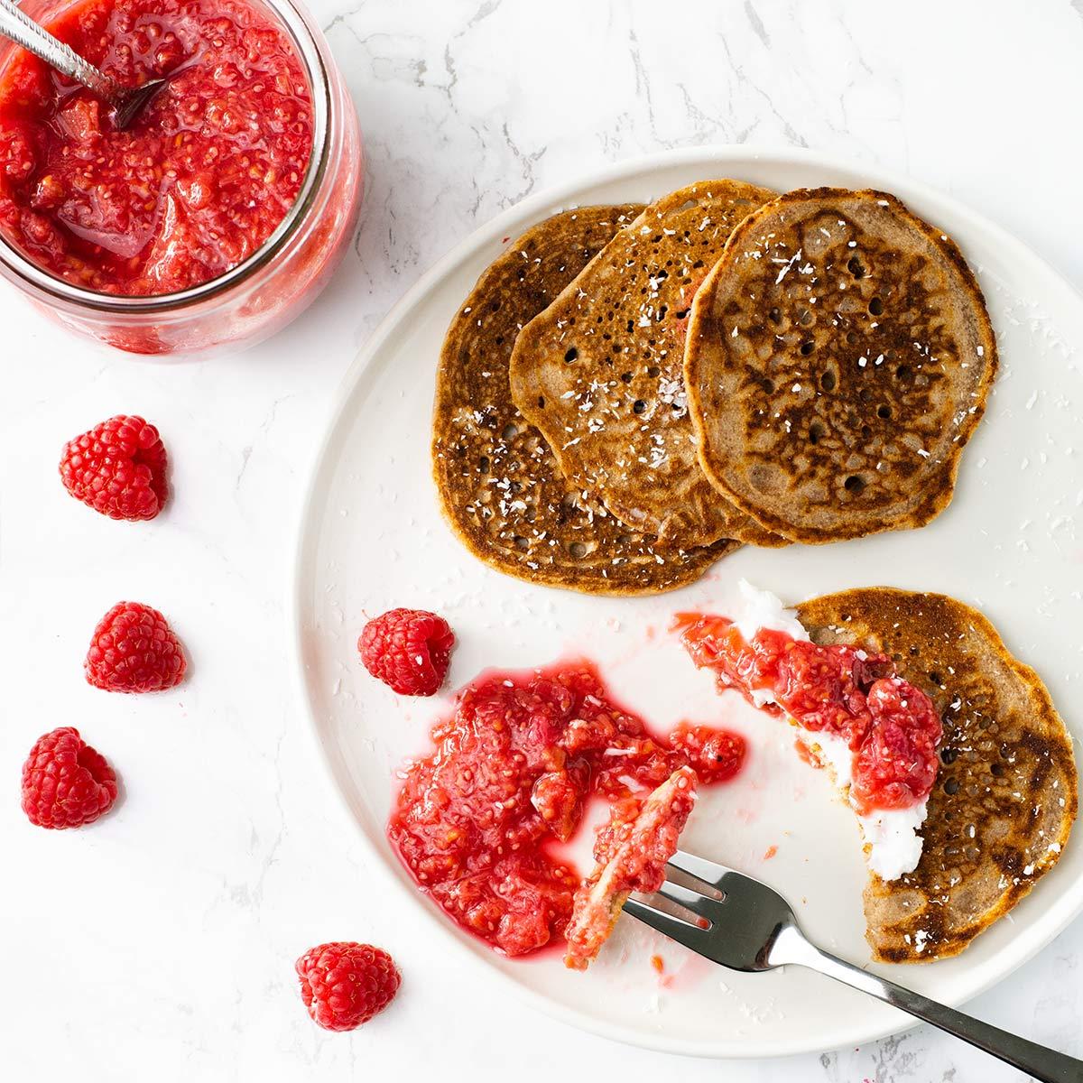 Glutenfreie Buchweizen Pancakes