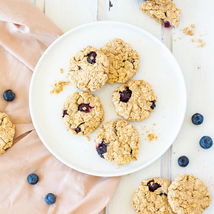 Weglasserei Erdmandel Blaubeer Kekse