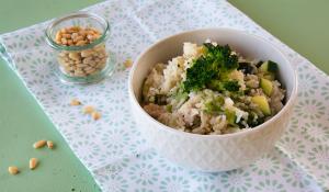 FODMAP-armer One Pot Reis mit Brokkoli und Hähnchen