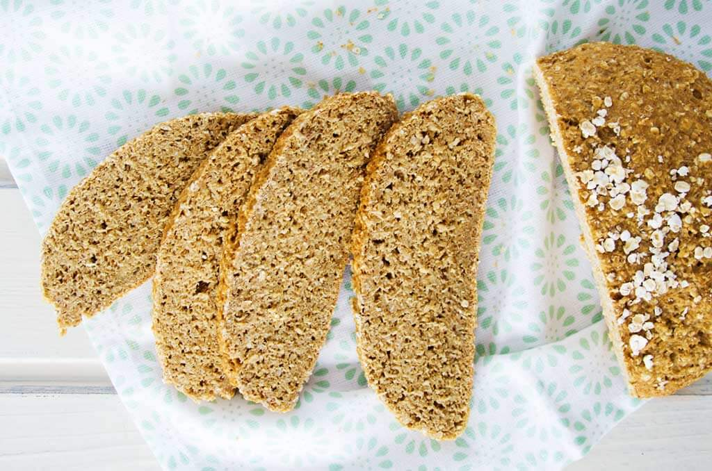 FODMAP-armes Brot aus Hafer und Haferkleie