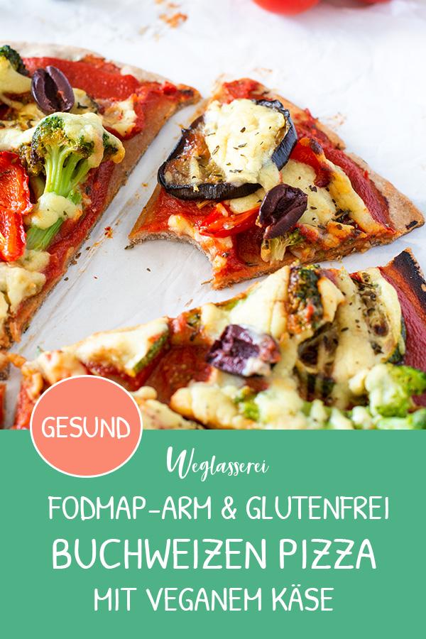 FODMAP-armes Rezept auf Deutsch: Buchweizen Pizza mit gebratenem Gemüse. Noch mehr FODMAP-arme #rezepte auf Deutsch findest du auf meinem Blog. Sowie Motivation, um deine #nahrungsmittelunverträglichkeit oder #reizdarm in den Griff zu bekommen. #gesunderezepte #glutenfrei #laktosefrei #fructosearm #lebensmittelunvertraeglichkeit #fodmap #fodmapdiät #pizza #buchweizen #vegan #vegetarisch