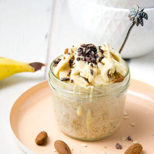Gesundes schnelles Frühstück bei einer Nahrungsmittelunverträglichkeit