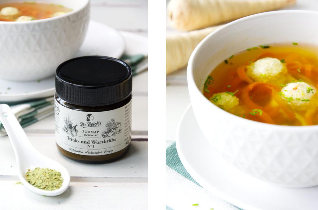 Blitzschnelle Suppe mit Gemüsebrühe ohne Geschmacksverstärker