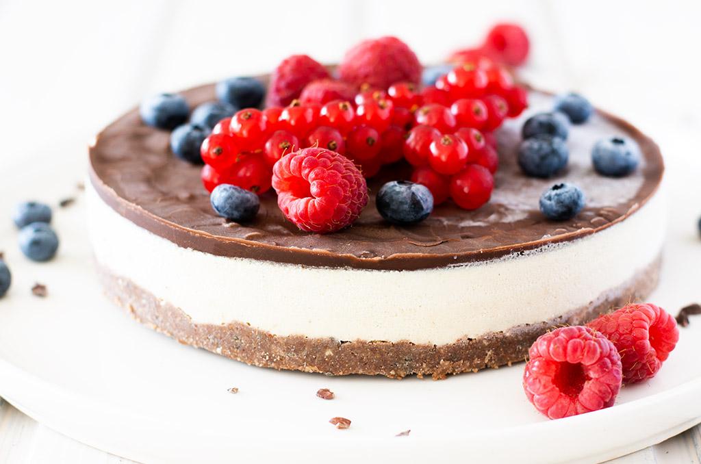 Fructosearmer und glutenfreier Kuchen ohne Backen