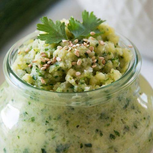 Verträgliches FODMAP-armes Hummus aus Zucchini