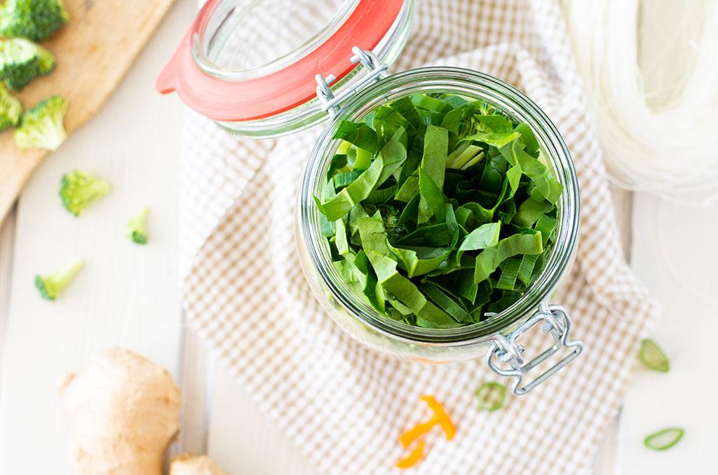 Instant Suppe zum Selbermachen mit frischem Gemüse
