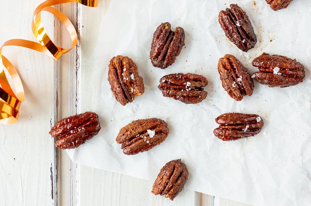 Fructosearme karamellisierte Nüsse mit Salz