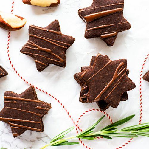 FODMAP-arme und glutenfreie Weihnachtsplätzchen mit Schokoladenfüllung