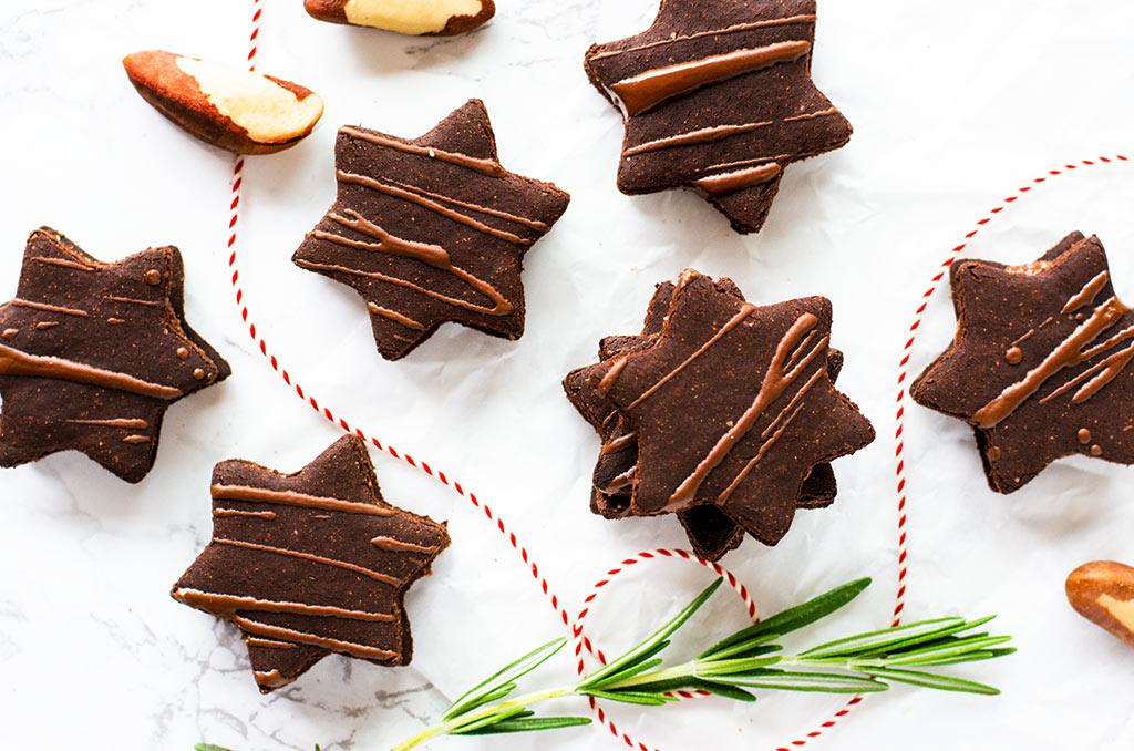 FODMAP-arme und glutenfreie Weihnachtskekse mit Schokoladenfüllung