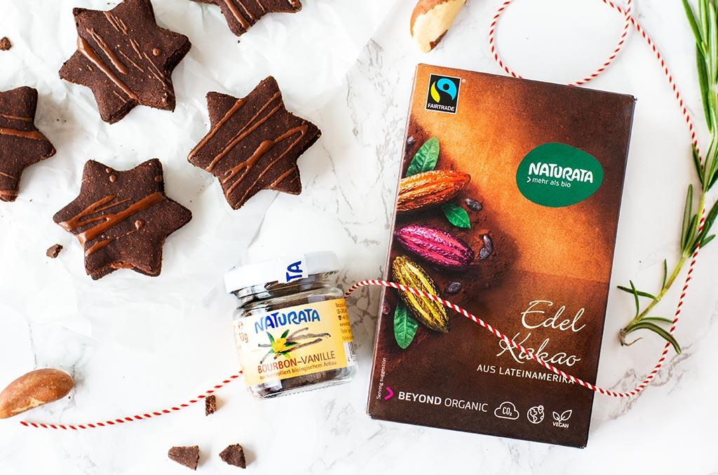 Glutenfreie Weihnachtsplätzchen mit Naturata Kakao