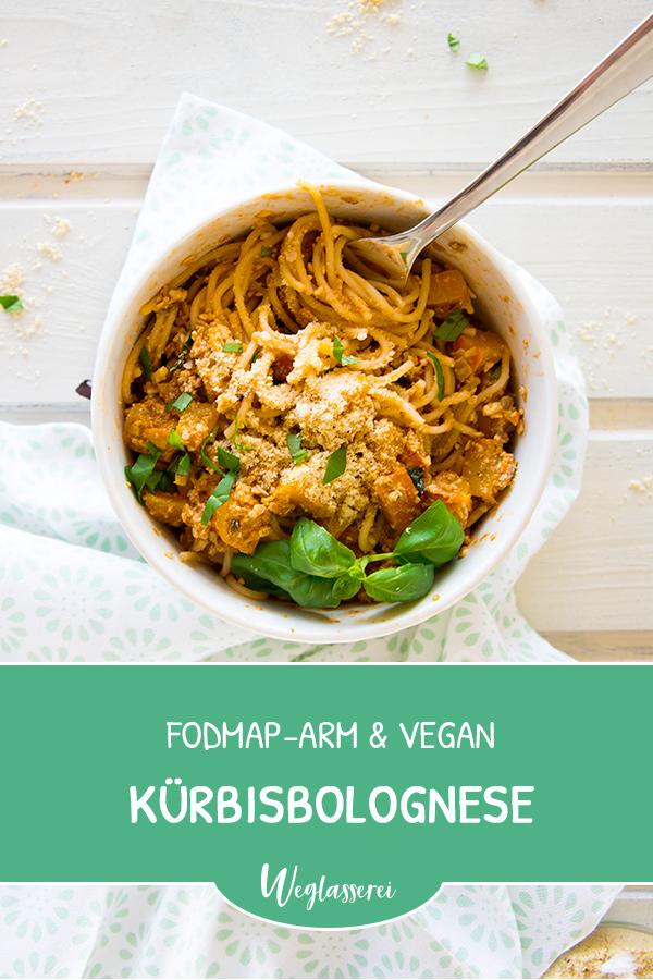Noch mehr FODMAP-arme #rezepte auf Deutsch findest du auf meinem Blog. Sowie Motivation, um deine #nahrungsmittelunverträglichkeit oder #reizdarm in den Griff zu bekommen. Dort zeige ich dir, wie du die #ernährungsumstellung angehst. #gesunderezepte #glutenfrei #laktosefrei #fructosearm #lebensmittelunvertraeglichkeit #reizdarm #fodmap #vegan #kürbis #bolognese #vegetarisch