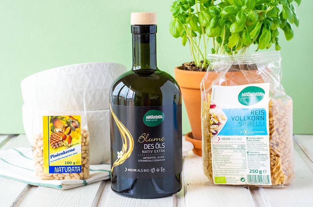Glutenfreier Nudelsalat aus Vollkornreis Spirelli von Naturata