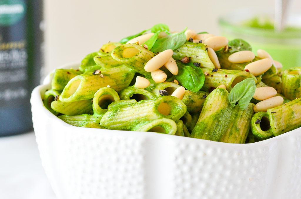 Penne mit Spinat Pesto