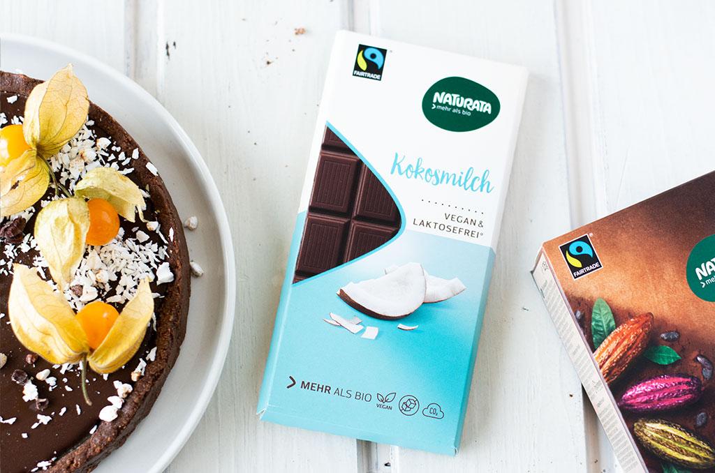Laktosefreie Naturata Kokosmilchschokolade