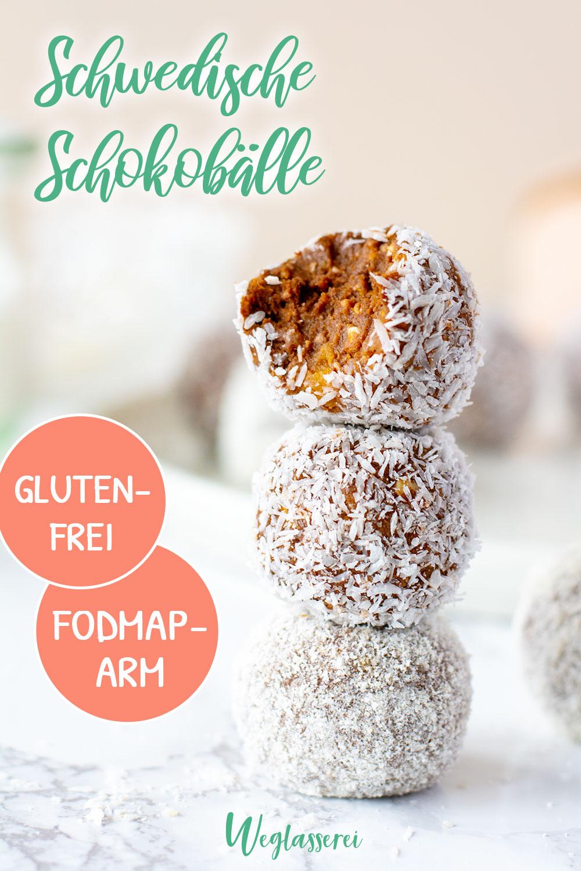 Inspiriert von den schwedischen Choklatbollar ist diese gesunde und verträgliche Version. Noch mehr FODMAP-arme #rezepte auf Deutsch findest du auf meinem Blog. Sowie Motivation, um deine #nahrungsmittelunverträglichkeit oder #reizdarm in den Griff zu bekommen. #gesunderezepte #glutenfrei #laktosefrei #fructosearm #lebensmittelunvertraeglichkeit #fodmap #fodmapdiät #fodmaparm #lowfodmap #weihnachten #schokolade