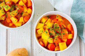 Schnelles Schonkost Rezept: Kartoffel-Karotten-Eintopf