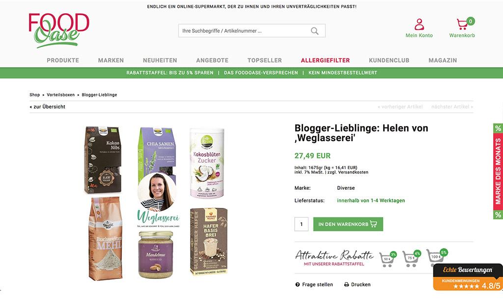 Blogger Lieblinge im FoodOase Online Shop