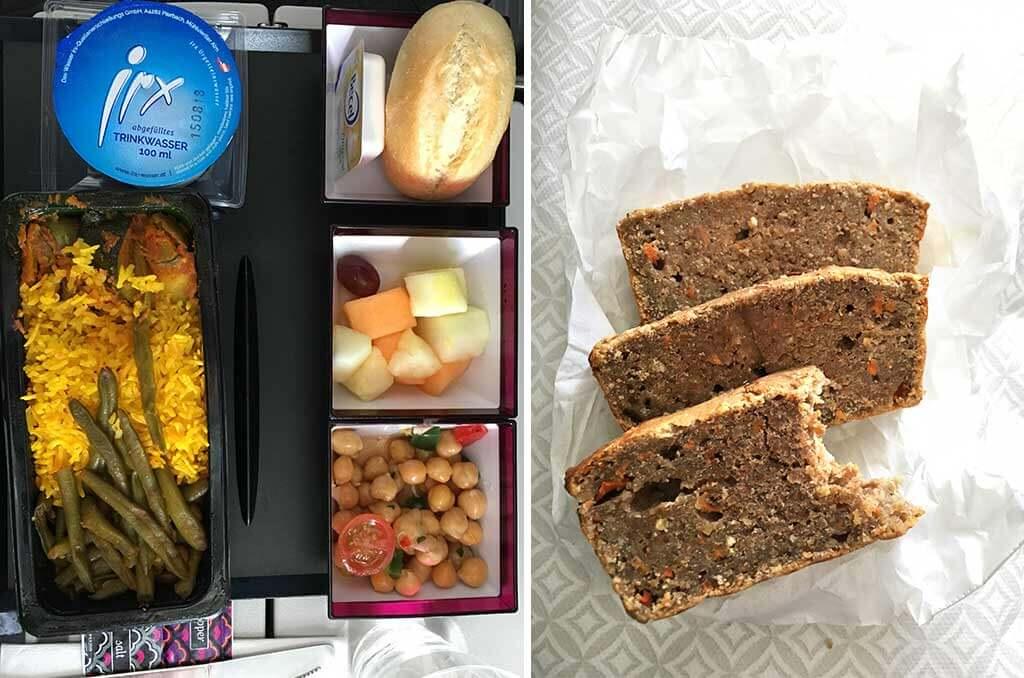Essen im Flugzeug mit einer Nahrungsmittelunverträglichkeit