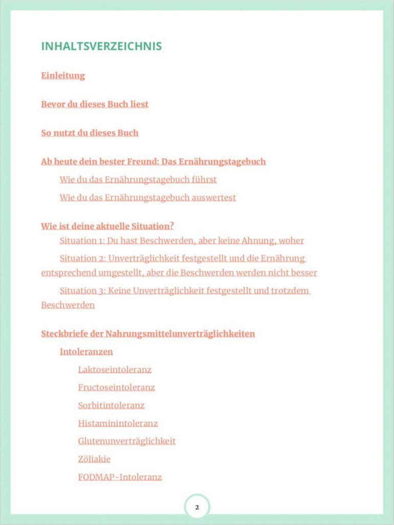 Inhalt E-Book Auf Spurensuche im Darm Seite 2