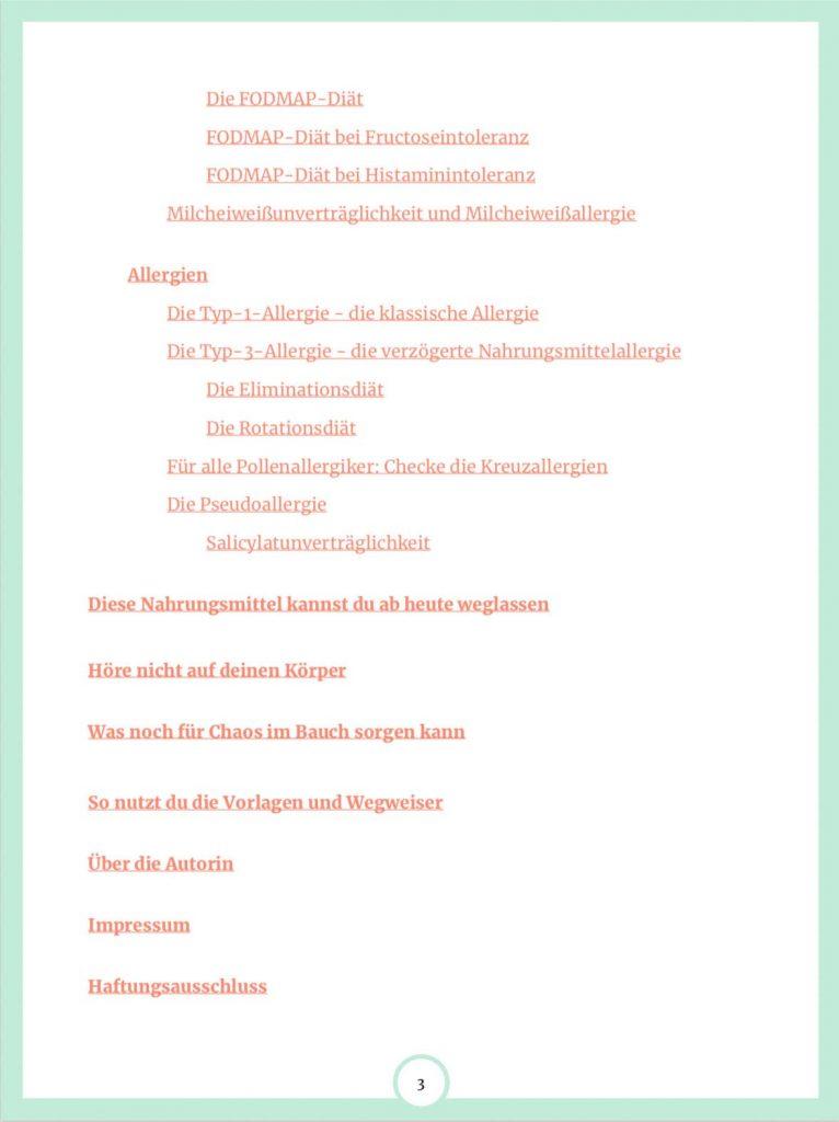 Inhalt E-Book Auf Spurensuche im Darm Seite 3