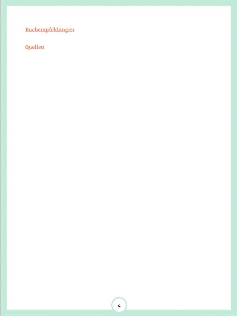 Inhalt E-Book Auf Spurensuche im Darm Seite 4