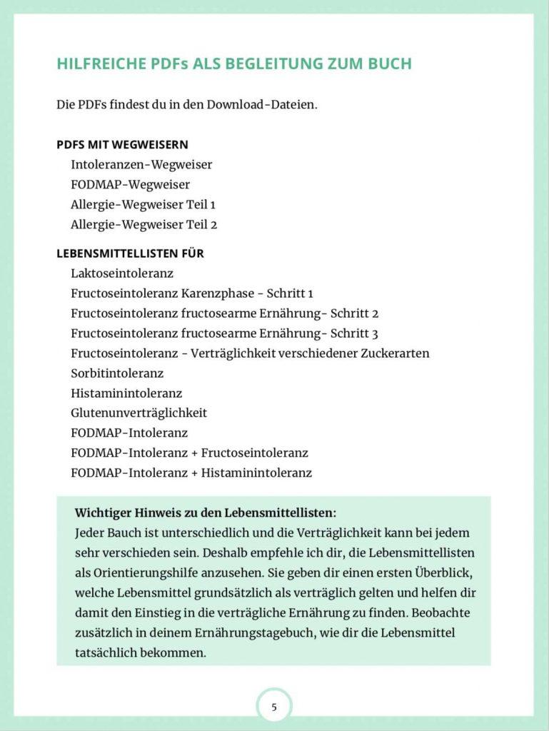 Inhalt E-Book Auf Spurensuche im Darm Seite 5